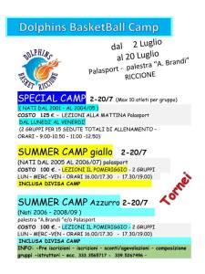 Locandina camp estivo 2018